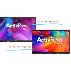 ActivPanel Nickel și Titanium - cele mai noi game de display-uri interactive de la Promethean, disponibile prin Quartz Matrix