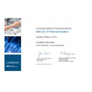 Quartz Matrix devine Corning Optical Communications Network of Preferred Installers Partner