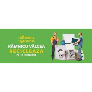 """Râmnicu Vâlcea participă în campania """"România Reciclează"""" Pe  17 noiembrie, locuitorii din Râmnicu Vâlcea reciclează!"""