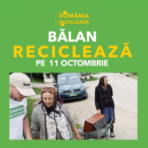 """""""România Reciclează"""" ajunge în Harghita pe 11 octombrie"""