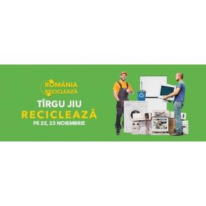 """Târgu Jiu participă în campania """"România Reciclează"""" Pe  22 și 23 noiembrie, locuitorii din Târgu Jiu reciclează!"""