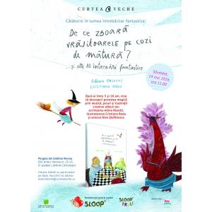 """Copiii curioși află sâmbătă """"De ce zboară vrăjitoarele pe cozi de mătură?"""" alături de Adina Rosetti și Cristiana Radu"""