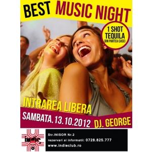 Best Music Night, seara ta cu prietenii in Indie Club!