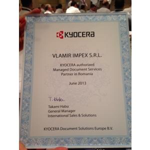kyocera. Certificat VLAMIR PARTENER KYOCERA MDS