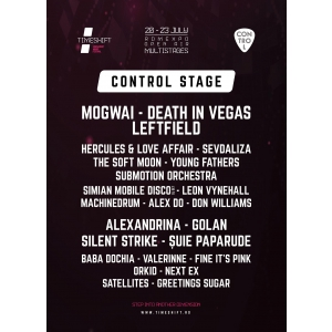 control stage at timeshift. Patru seri de concerte live pe Scena Control, la Timeshift Bucharest Music Festival!