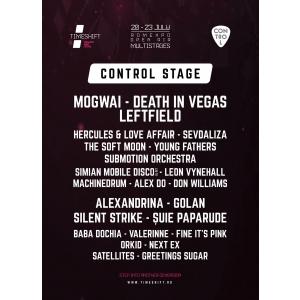 Patru seri de concerte live pe Scena Control, la Timeshift Bucharest Music Festival!
