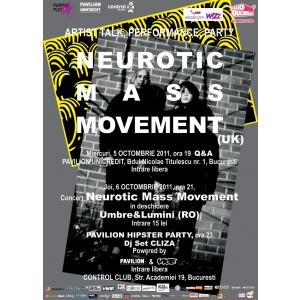 Premiera la Bucuresti: Neurotic Mass Movement concerteaza in Club Control