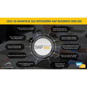 sap business one. Infografic integrare SAP Business One - EDI