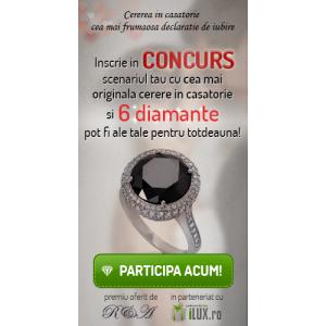 6 diamante veritabile sunt oferite pt. cea mai originala cerere in casatorie – un concurs marca iLUX.ro