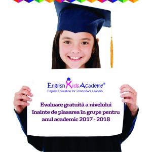 English Kids Academy anunță înscrierile în anul academic 2017-2018