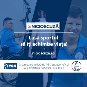 #NICIOSCUZĂ - campania de responsabilitate socială care îi are în prim-plan pe sportivii paralimpici români