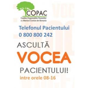 vocea. Telefonul Pacientului - un priect de suflet al COPAC - Coalitia Organizatiilor Pacientilor cu Afectiuni Cronice