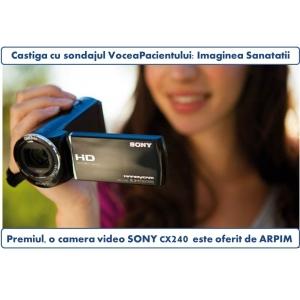 Imaginea Sanatatii: castiga o camera video Sony cu noul sondaj www.voceapacientului.ro