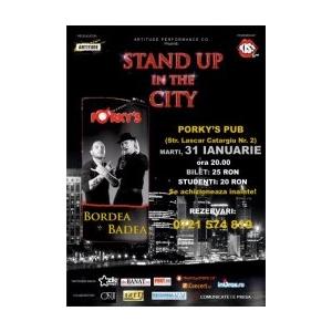 Stand up comedy cu BORDEA si BADEA la Porky's Pub - 31 ianuarie 2012