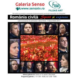 Conferință de presă la Galeria de Artă Senso, 8 decembrie, ora 12,00