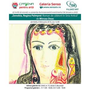 """carte  zenobia. Lansare de Carte """"Zenobia, Regina Palmyrei: Roman de călătorii în Siria antică"""" de Mircea Deac"""