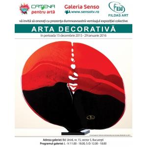 reduceri colective. Afis Arta Decorativa Galeria Senso 15 dec.2015-29 ian.2016