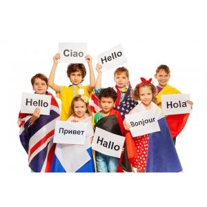 Cursuri vesele de limbi străine pentru copii, în centrul orașului
