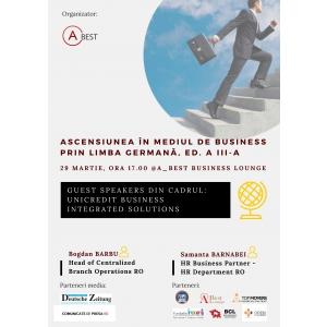 """Conferinta marca A_BEST: """"Ascensiunea in mediul de business prin limba germana"""", editia a III-a"""
