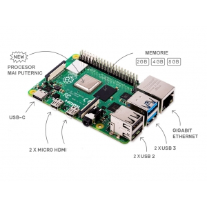 În oferta Aurocon COMPEC: NOU Raspberry Pi 4 Model B 8GB