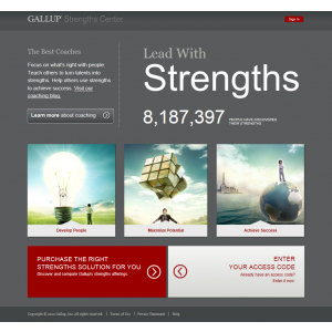 SF34®. GALLUP lansează on-line Strengths Center