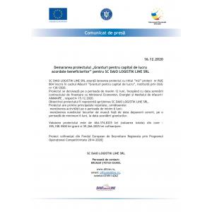 Contract de finanțare NR M2-804 DIN 15.12.2020