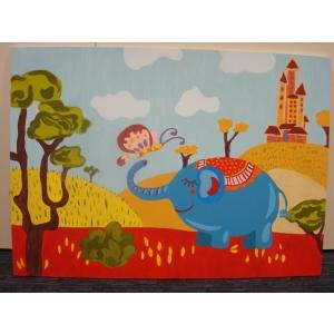 talente. Culoare pentru suflet, pictura realizata de bursierii Fundatiei Principesa Margareta a Romaniei in cadrul programului