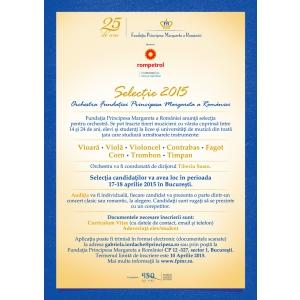 Tinerii muzicieni sunt invitaţi să participe la selecţia anuală a Orchestrei Fundaţiei Principesa Margareta a României