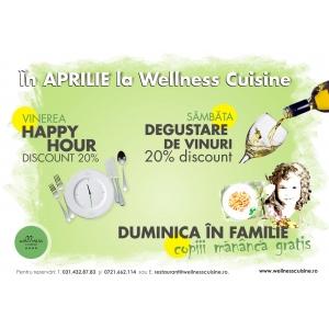 cuisine. In APRILIE la WELLNESS CUISINE