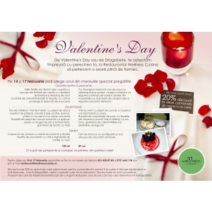 Valentine's day  ziua indragostitilor  dragobete  discount  wellness. Luna indragostitilor la Wellness Cuisine