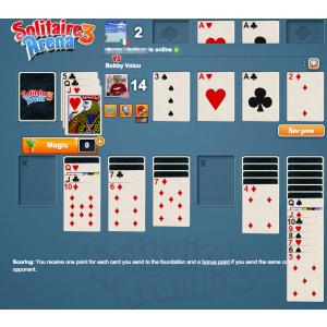 Solitaire Arena. Solitaire 3 Arena, ultimul titlu MavenHut, se numără printre cele mai de succes jocuri pe Facebook în 2014