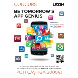 concurs aplicatii. Be Tomorrow's App Genius