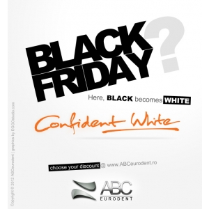 confident PR. Pentru prima data in Europa, Black Friday devine Alb Confident !