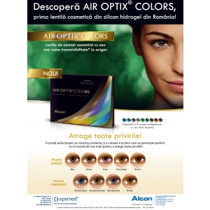 AIR OPTIX® COLORS – prima lentilă de contact cosmetică din silicon hidrogel, din România