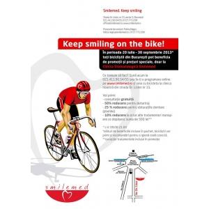 Keep smiling on the bike