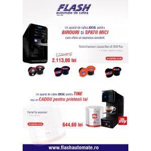 espressoare. Promotii Speciale - Campania de primavara - Cafea, Espressoare si Produse Vending - Flashautomate.ro