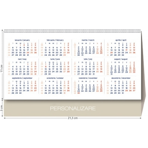 calendar triptic de personalizat