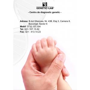 """amniocenteza. GENETIC LAB lanseaza campania: """"O amniocenteza si o analiza de diagnostic prenatal gratuita in fiecare luna - o sansa in plus pentru un copil sanatos"""""""