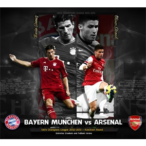 bayern vs arsenal. bayern vs arsenal