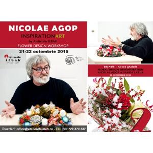 design floral. Nicolae Agop la Atelierele ILBAH