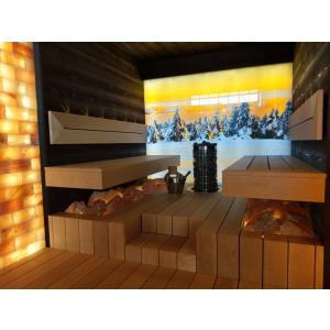 Saună panoramică, cu multă sticlă din ce în ce mai la modă