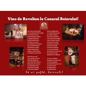 De Revelion, bunătăți tradiționale românești, muzică și dans la Conacul Boierului