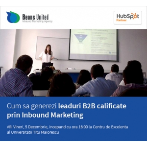 inbound marketing. Beans United organizează ce-a de-a doua ediție a seminariilor de INBOUND Marketing (SIM)