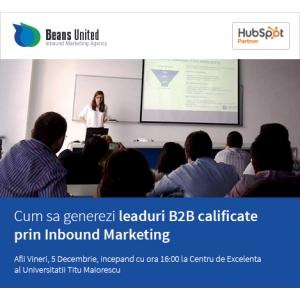 agentie inbound marketing. Beans United organizează ce-a de-a doua ediție a seminariilor de INBOUND Marketing (SIM)