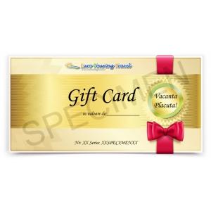 gift card. Gift Card de calatorie pentru o vacanta de vis