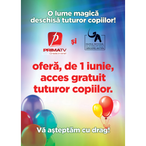 """Prima TV. De ziua lor, Prima TV îi invită pe cei mici la Muzeul """"Antipa"""""""