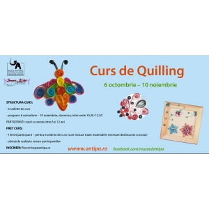 "quilling. Incepe cursul de quilling la Muzeul ""Antipa"""