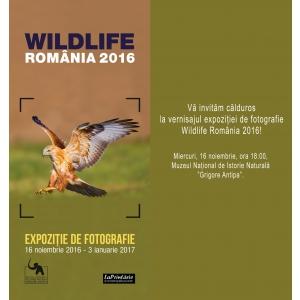 """Muzeul Național de Istorie Naturală """"Grigore Antipa"""" și """"LaPrintărie"""" vă invită la vernisajul expoziției de fotografie  Wildlife România 2016"""