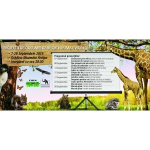 """documentare. Proiecţii de documentare Digi Animal World în grădina Muzeului """"Antipa"""""""