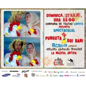 """Spectacol de teatru """"Punguța cu doi bani"""", în grădina Muzeului """"Antipa"""""""